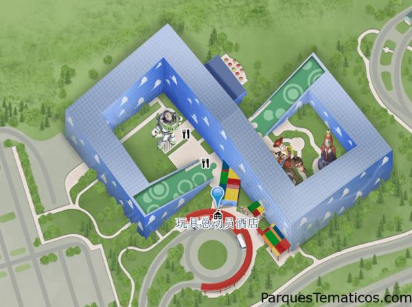 Mapa del hotel de Toy Story