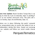 Busch Gardens Huracán Irma