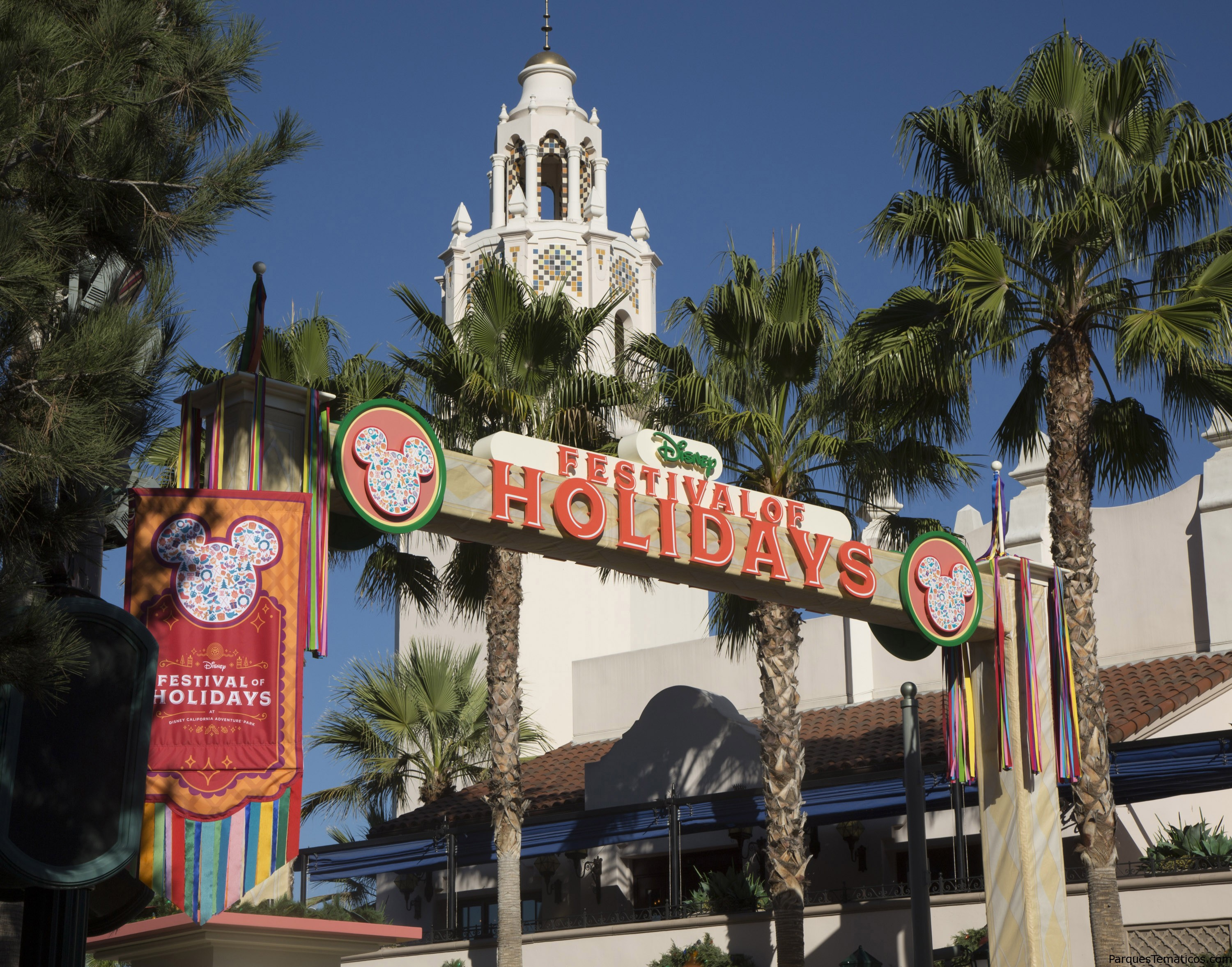 Festival of Holidays at Disney California Adventure park celebrates holiday festivities of diverse cultures with music, dance and craft-making, plus food at the Festive Foods Marketplace. Guests can look for entertainment such as street parties, special Disney characters and musical ensembles