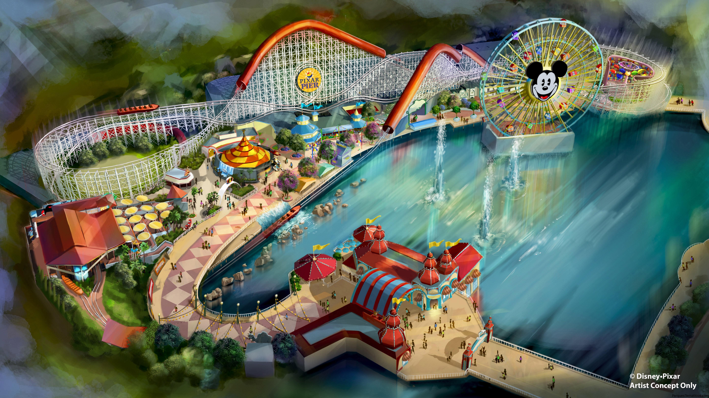 Pixar Pier se inaugura el verano de 2018 con una increíble nueva montaña rusa, Incredicoaster, inspirada en 'The Incredibles', en Disney California Adventure Park