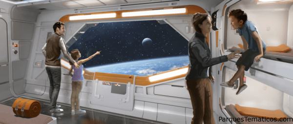 Star Wars-Inspired Hotel Room View – Planet Rotation