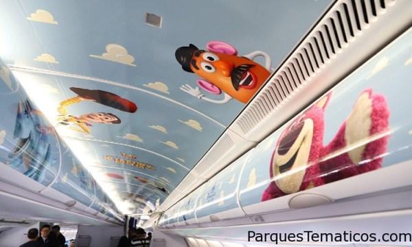 Este es el primer avión temático de Disney Pixar