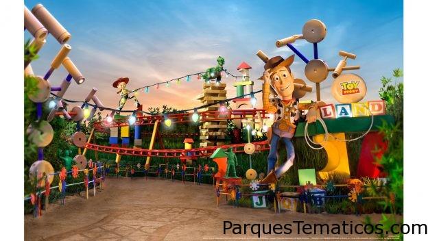 Increíbles imágenes aéreas de Toy Story Land ofrece una vista panorámica de Slinky Dog Dash y más