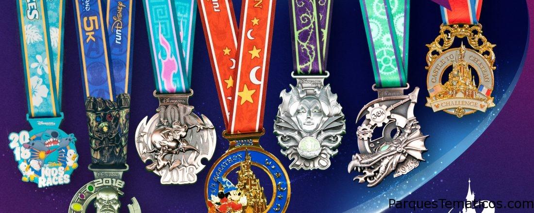 Primera imagen de las medallas para el 2018 Disneyland Paris Magic Run Weekend