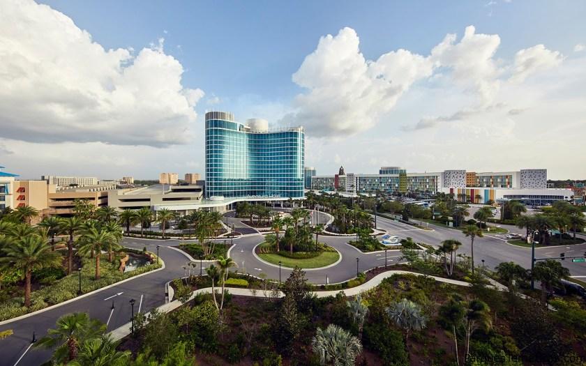 Las vistas al nuevo Aventura Hotel de Universal, abrió sus puertas