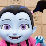 "VAMPIRINA AT THE DISNEYLAND RESORT (ANAHEIM, Calif.) – Vampirina has arrived at the Disneyland Resort, just in time for the Halloween season. The popular Disney Junior star greets and takes photos with guests in Disney California Adventure Park in front of ""Disney Junior Dance Party!"""