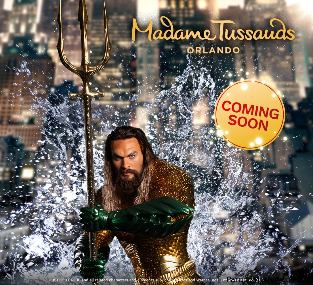 Be the FIRST to see Jason Momoa as Aquaman when his interactive wax figure debuts at Madame Tussauds Orlando on December 4! Designed in collaboration with Warner Bros. Consumer Products on behalf of DC Entertainment, the figure captures every detail from the title character in the feature film Aquaman, which hits theatres on December 21, and is outfitted in the all-new suit designed for the movie.