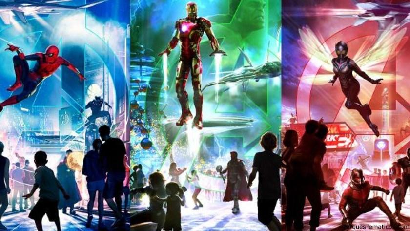 MARVEL Superhero Land en Disney California Adventure