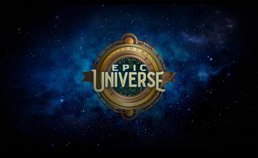 Logo Oficial Universal's Epic Universe, el cuarto parque temático de Universal Orlando Resort