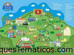 Mapa del parque temático Peppa Pig World of Play en Dallas-Fort Worth Texas