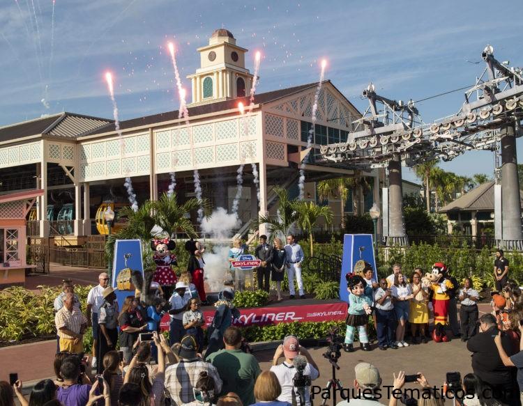 El nuevo sistema de transporte Disney Skyliner se inauguró en Walt Disney World