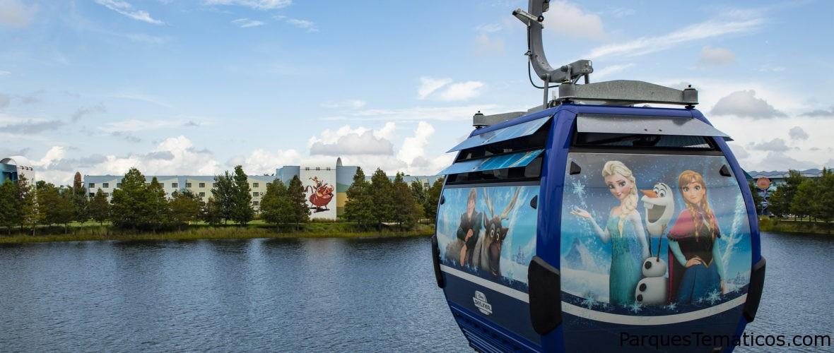 Hay magia en el aire con el nuevo Skyliner de Disney