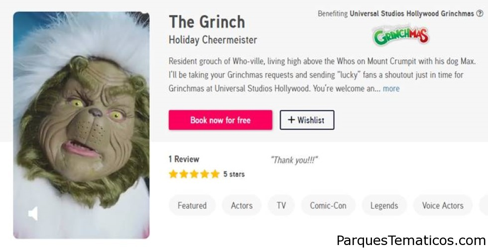 Universal Studios Hollywood presenta videos gratis y personalizados de The Grinch Just In Time para los Grinchmas Who-lidays