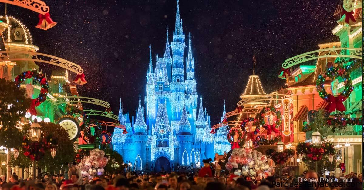 Video ambiental de la temporada navideña con nuestra vista de Main Street, EE. UU