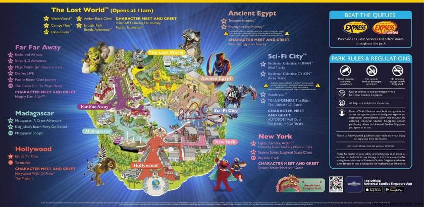 Mapas Universal Studios Singapur