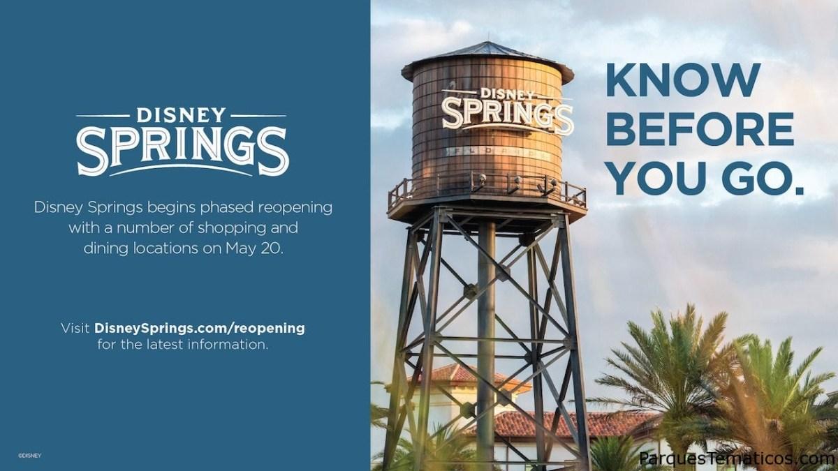 Reapertura gradual de Disney Springs en Orlando