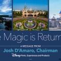 La magia está volviendo en Disneylandia en California