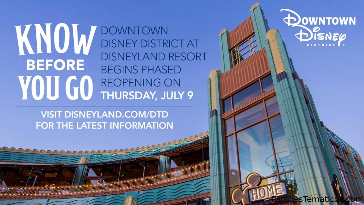 Reapertura gradual de Downtown Disney en Disneyland Resort el 9 de julio