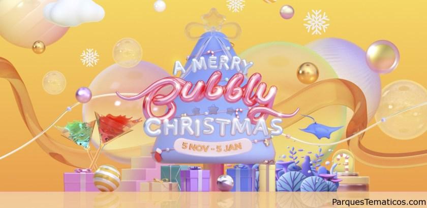 Celebre una Navidad burbujeante en Resorts World Sentosa