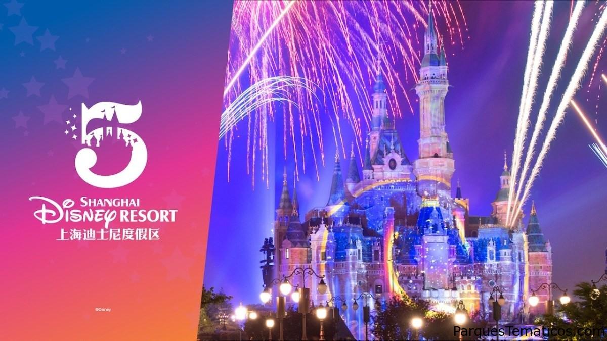 Shanghai Disney Resort presenta el logotipo del quinto aniversario en la celebración especial de Nochevieja