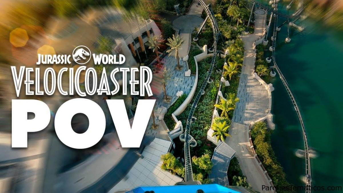 Jurassic World Velocicoaster POV