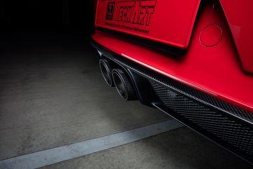 Carbon rear diffusor