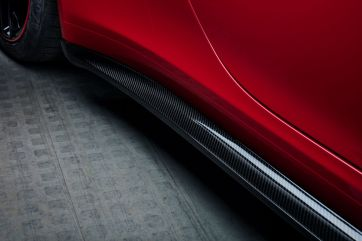 Carbon side skirts