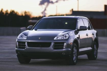 Porsche Cayenne on the road