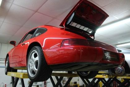 Porsche lift hood open