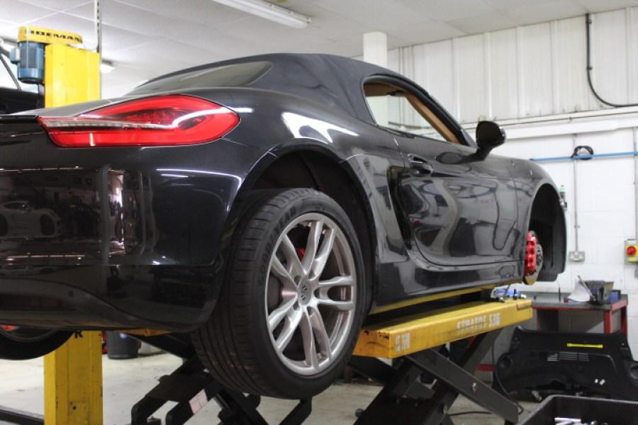 Porsche on lift
