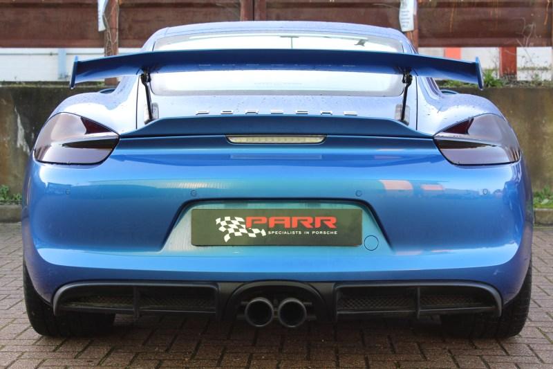 Porsche sports car rear