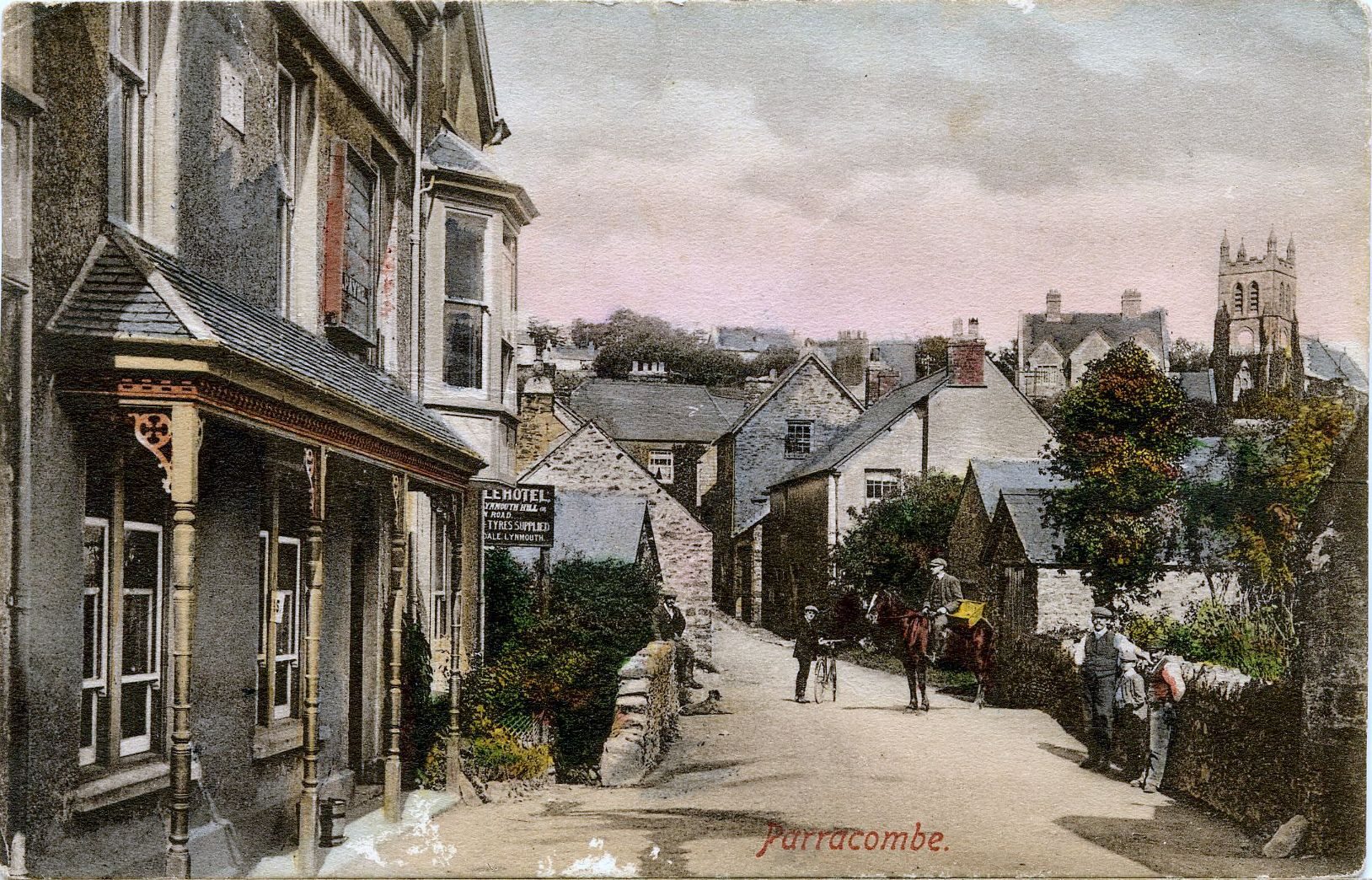 Postcard of 'Parracombe' - kind permission of the Antell Family