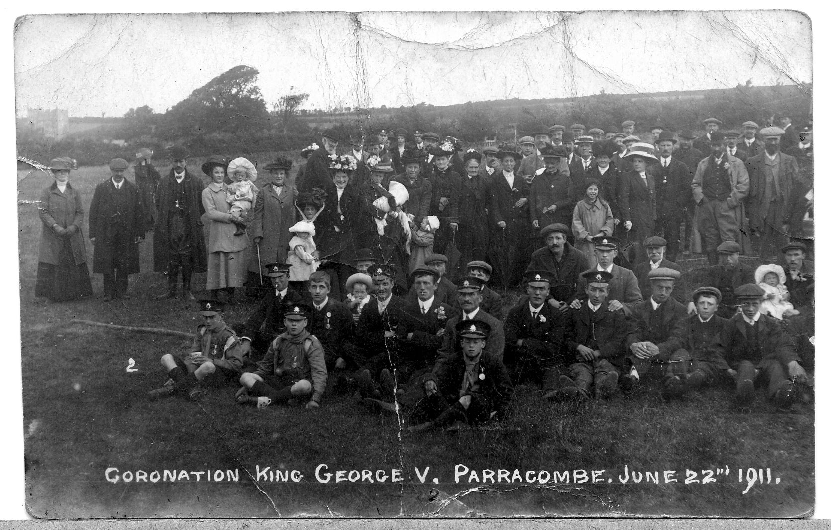 1911 Coronation Parracombe Villagers - kind permission of the Antell Family