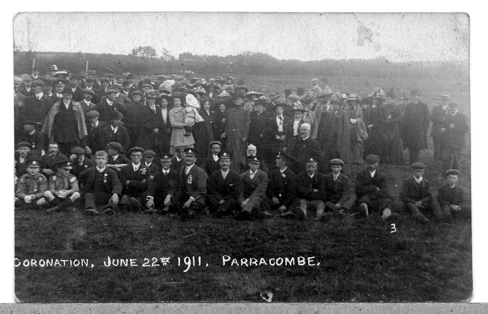 Parracombe Villagers celebrate 1911 Coronation - kind permission of the Antell Family
