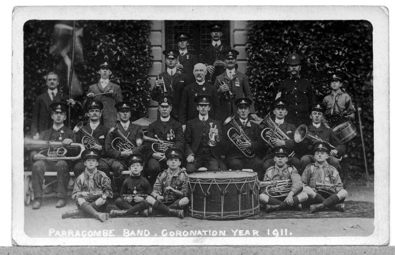1911 Coronation Band Parracombe - kind permission of the Antell Family