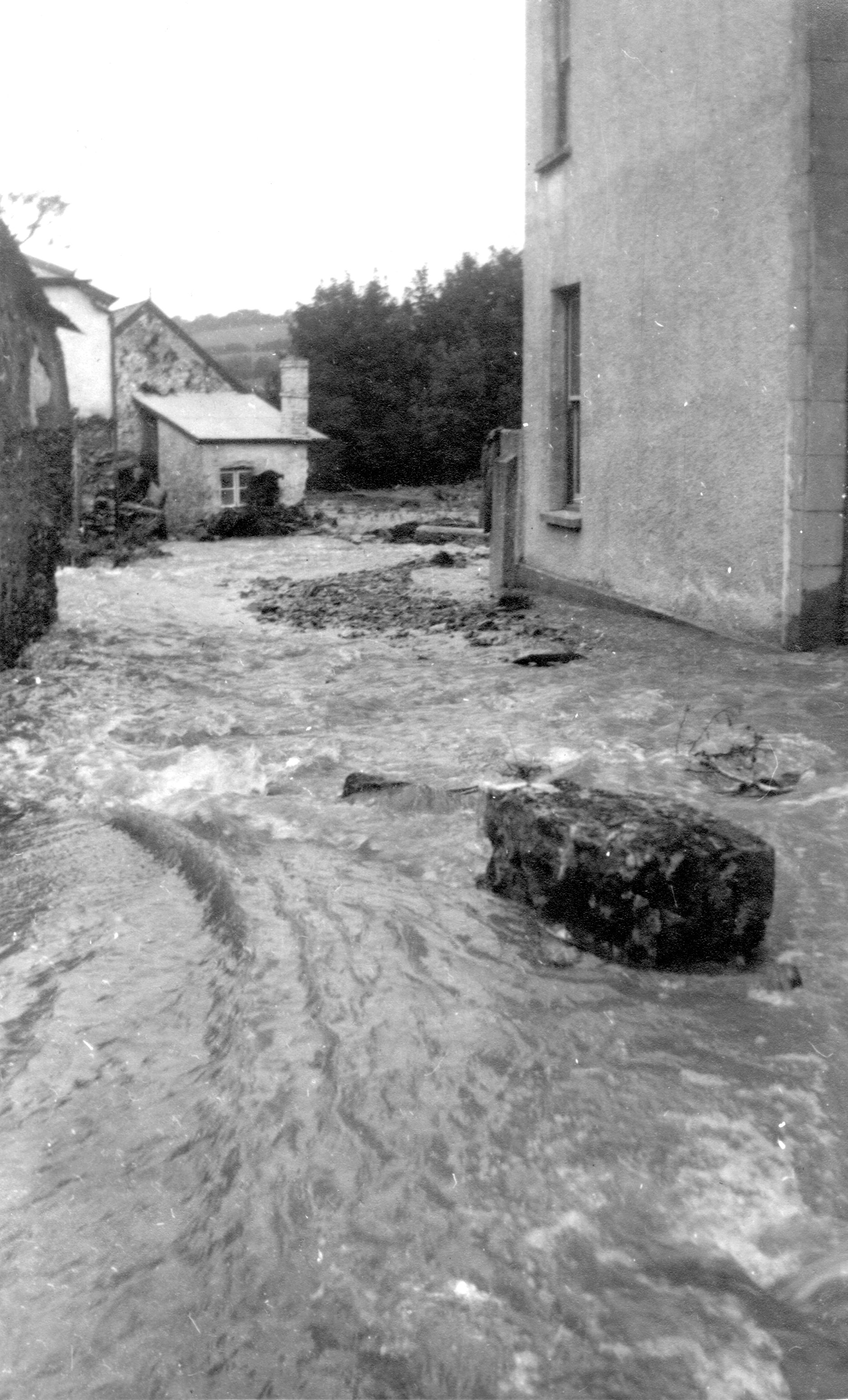 Parracombe Flood of 1952 - Kind permission of Barbara Ford