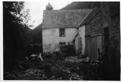 Parracombe Flood of 1952 Mill Farm - Kind permission of Emma Daborn