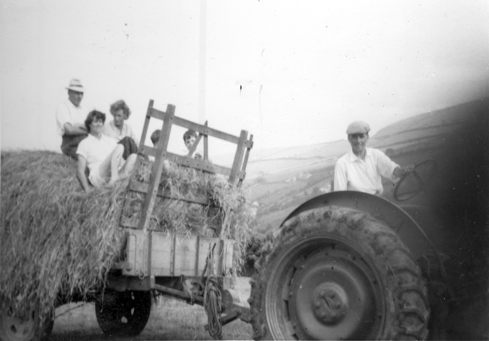 Hay cart 1959 - kind permission of Emma Tucker