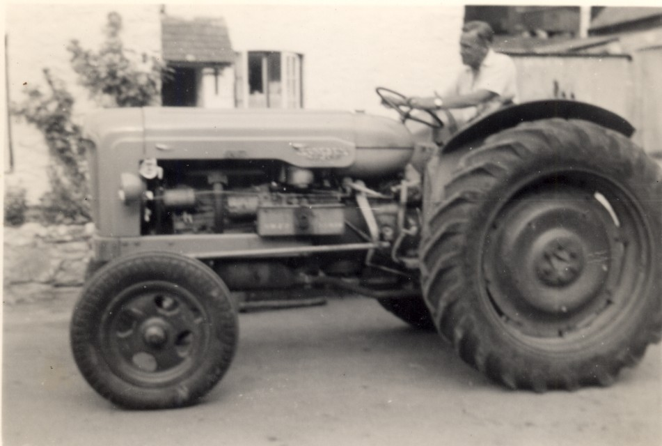 Tractor 1950's - kind permission Julie Rawle