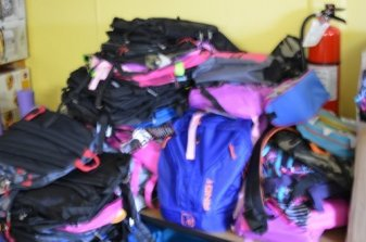 Tons of backpacks!