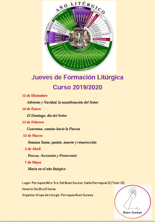 Jueves de formación litúrgica 2019-20