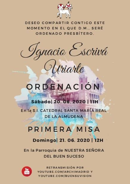 Nacho Escrivá recibirá el sábado la ordenación sacerdotal
