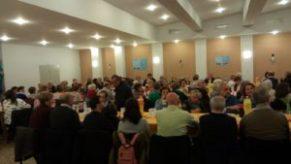 Salón lleno para la Comida Solidaria de San Gerardo 2018