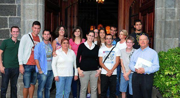 Equipo de protagonista los jóvenes en Canarias, desde Santa Úrsula.