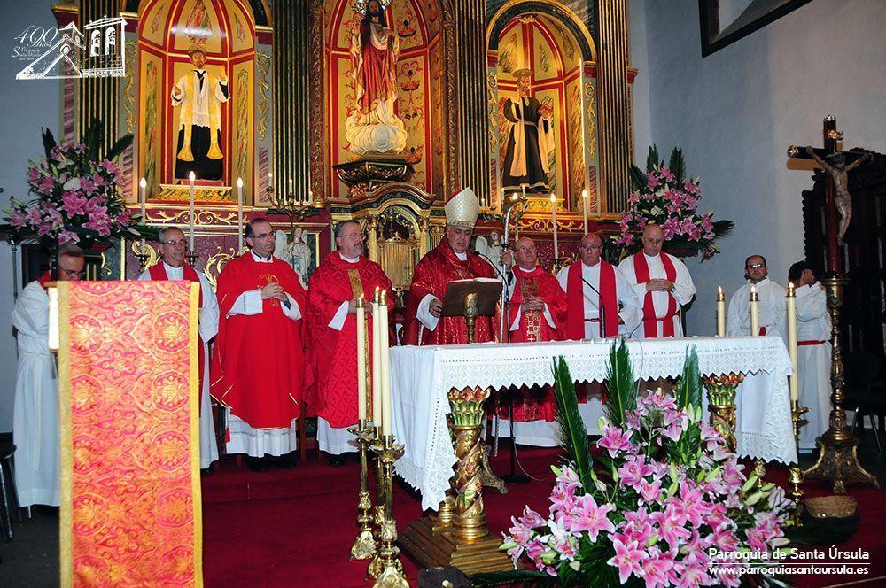 El 21 de octubre de 2014 clausuró la celebración del IV Centenario de la parroquia de Santa Úrsula