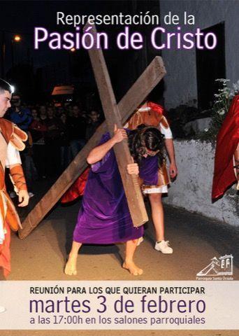 Reunión Representación Pasión de Cristo
