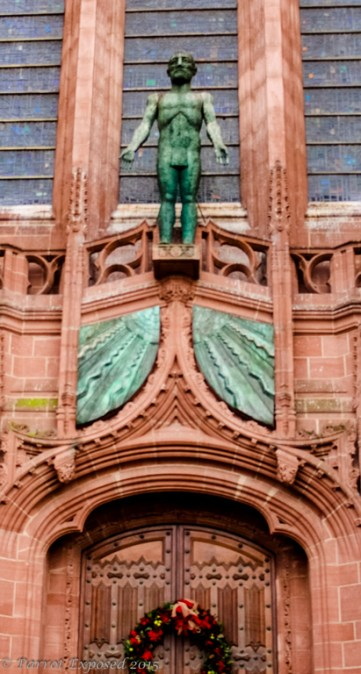 Anglican cathedral door