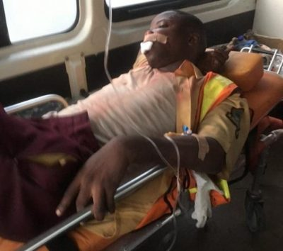 WARNING GRAPHIC IMAGE: LASTMA officer stoned to death in Lagos