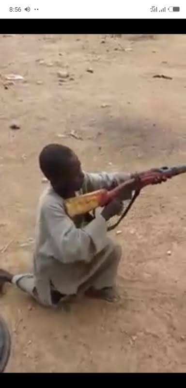 Viral Video Of 7-Yr-Old Sambisa Forest Returnee Boy Showing Different Shooting Techniques