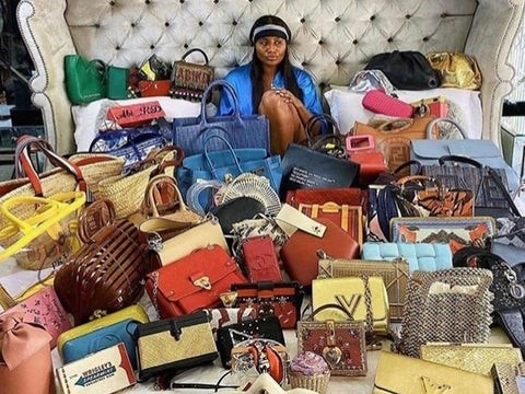 Amazing Lifestyle of the Rich: Ajimobi's Daughter Flaunts Multi-Million Naira Designer Bags Collection (Photo)